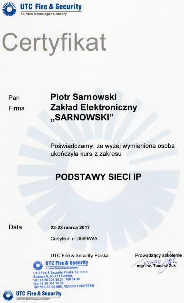 Certyfikat Podstawy sieci IP